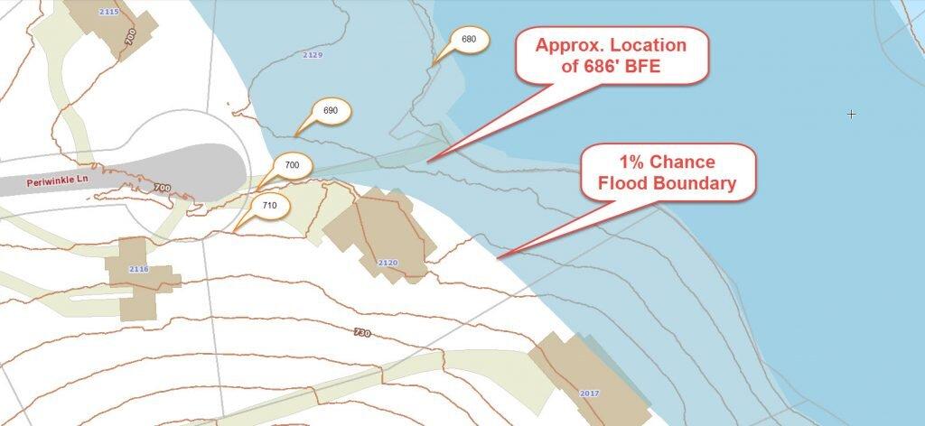GIS with Flood Hazard Zone Overlay